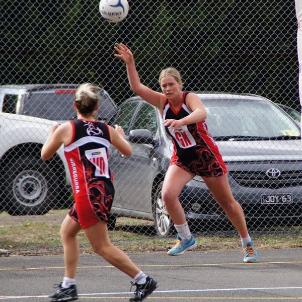Birregurra Saints netball game day 6