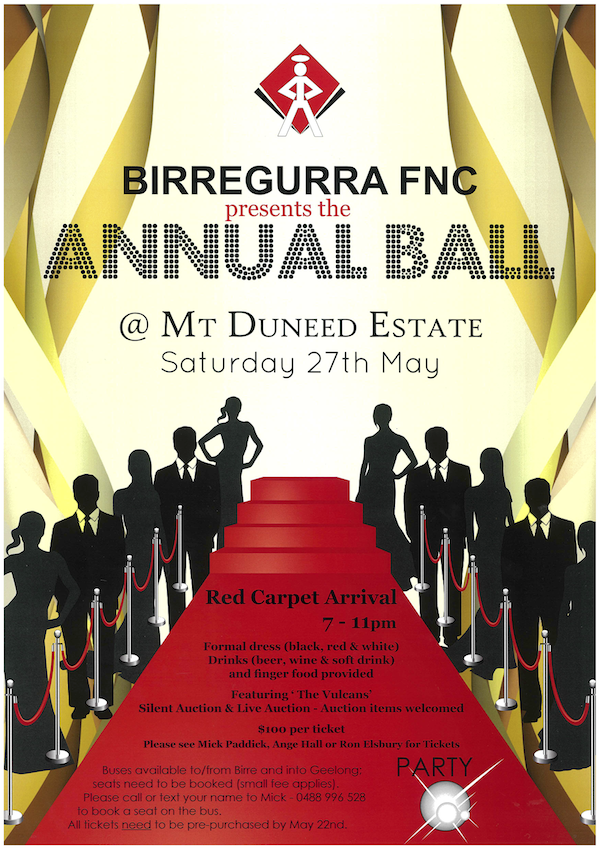 Birregurra Football Netball Club annual ball