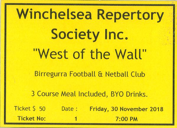Birregurra Saints Winch Repertory Society